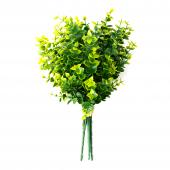 Green Artificial Boxwood Bouquet - 12 Pieces