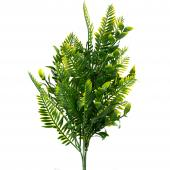 """Artificial Faux Boxwood With Fern 14"""" - 24 Pieces"""