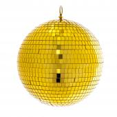 "Mirror Disco Balls 9¾"" - Gold"