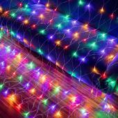 LED Net Lights - 240LED Lights 9.8' x 6.6' - Multicolor