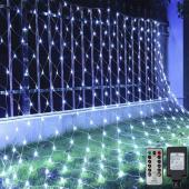LED Net Lights 240LED Lights 9.8' x 6.6' - White