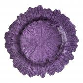 """Glass Reef Charger Plate 13"""" - 8 Pack - Purple"""