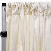 Royal Slub Drape Panel - 100% Polyester - Pearl