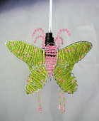 DISCONTINUED - DecoStar™ Pink and Lime Acrylic Crystal Beaded Butterfly Chandelier