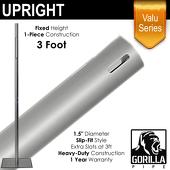 "Valu Series - 3ft 1.5"" Fixed Upright w/Chrome Cap"