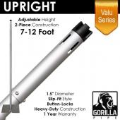 "Valu Series - 7-12ft Adjustable Slip-Fit 1.5"" Upright w/ Versatop™"