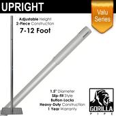 "Valu Series - 7-12ft Adjustable Slip-Fit 1.5"" Upright"