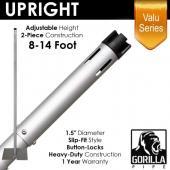 "Valu Series - 8-14ft Adjustable Slip-Fit 1.5"" Upright w/ Versatop™"