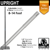 "Valu Series - 8-14ft Adjustable Slip-Fit 1.5"" Upright"