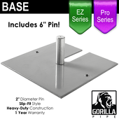 Pro & EZ Series - 18in x 18in Super Heavy Duty Base w/ Pin (Up to 18ft)