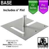 Pro & EZ Series - 18in x 18in Heavy Duty Base w/ Pin (Up to 14ft)