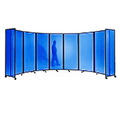 Polycarbonate Room Divider 360 Accordion Portable Partition - Choose Your Size - Blue