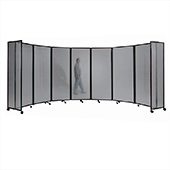 Polycarbonate Room Divider 360 Accordion Portable Partition - Choose Your Size - Light Gray