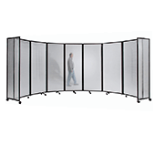 Polycarbonate Room Divider 360 Accordion Portable Partition - Choose Your Size - Clear