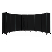 Polycarbonate Room Divider 360 Accordion Portable Partition - Choose Your Size - Dark Gray