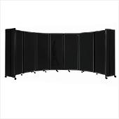 Polycarbonate Room Divider 360 Accordion Portable Partition - Choose Your Size - Dark Gray