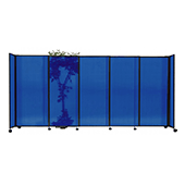 Polycarbonate StraightWall Sliding Portable Partition - Choose your Size - Blue