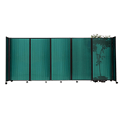 Polycarbonate StraightWall Sliding Portable Partition - Choose your Size - Green