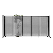 Polycarbonate StraightWall Sliding Portable Partition - Choose your Size - Light Gray