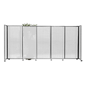 Polycarbonate StraightWall Sliding Portable Partition - Choose your Size - Opal