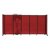 Polycarbonate StraightWall Sliding Portable Partition - Choose your Size - Red
