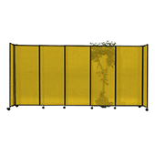 Polycarbonate StraightWall Sliding Portable Partition - Choose your Size - Yellow