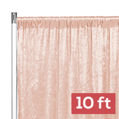 Premade Velvet Backdrop Curtain Panel - 10ft Long x 52in Wide - Blush/Rose Gold