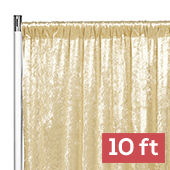 Premade Velvet Backdrop Curtain Panel - 10ft Long x 52in Wide - Champagne