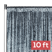 Premade Velvet Backdrop Curtain Panel - 10ft Long x 52in Wide - Dark Slate Blue
