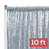 Premade Velvet Backdrop Curtain Panel - 10ft Long x 52in Wide - Dusty Blue