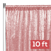 Premade Velvet Backdrop Curtain Panel - 10ft Long x 52in Wide - Dusty Rose/Mauve