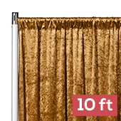 Premade Velvet Backdrop Curtain Panel - 10ft Long x 52in Wide - Mustard Gold