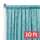 Premade Velvet Backdrop Curtain Panel - 10ft Long x 52in Wide - Peacock Teal