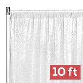 Premade Velvet Backdrop Curtain Panel - 10ft Long x 52in Wide - White