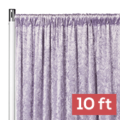 Premade Velvet Backdrop Curtain Panel - 10ft Long x 52in Wide - Wisteria