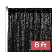 Premade Velvet Backdrop Curtain Panel - 8ft Long x 52in Wide - Black