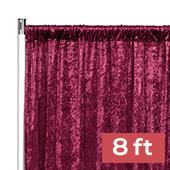 Premade Velvet Backdrop Curtain Panel - 8ft Long x 52in Wide - Burgundy