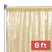 Premade Velvet Backdrop Curtain Panel - 8ft Long x 52in Wide - Champagne