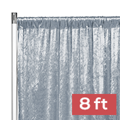Premade Velvet Backdrop Curtain Panel - 8ft Long x 52in Wide - Dusty Blue