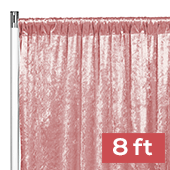 Premade Velvet Backdrop Curtain Panel - 8ft Long x 52in Wide - Dusty Rose/Mauve