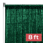 Premade Velvet Backdrop Curtain Panel - 8ft Long x 52in Wide - Emerald Green
