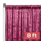 Premade Velvet Backdrop Curtain Panel - 8ft Long x 52in Wide - Mulberry