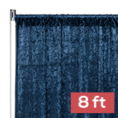 Premade Velvet Backdrop Curtain Panel - 8ft Long x 52in Wide - Navy Blue