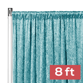 Premade Velvet Backdrop Curtain Panel - 8ft Long x 52in Wide - Peacock Teal