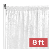 Premade Velvet Backdrop Curtain Panel - 8ft Long x 52in Wide - White