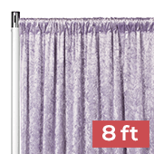 Premade Velvet Backdrop Curtain Panel - 8ft Long x 52in Wide - Wisteria