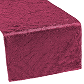 Premade Velvet Table Runner - Burgundy