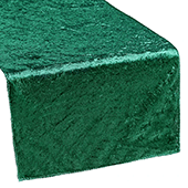Premade Velvet Table Runner - Emerald Green