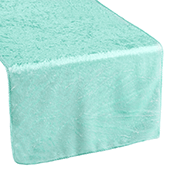 Premade Velvet Table Runner - Light Turquoise