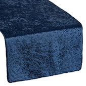 Premade Velvet Table Runner - Navy Blue